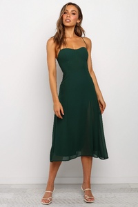 Low-cut Slip Midi Dress - Arona XO