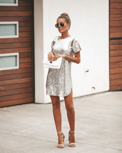 Load image into Gallery viewer, Backless Sequin Mini Dress - Arona XO