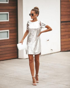 Backless Sequin Mini Dress - Arona XO
