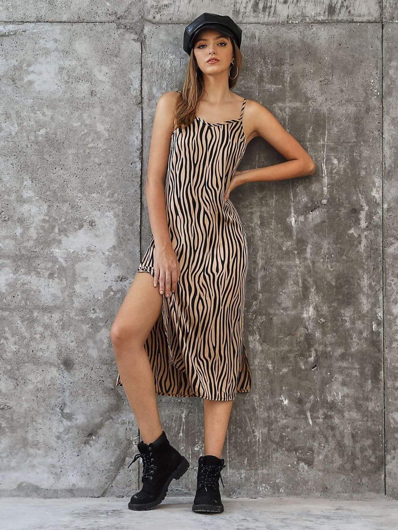 Zebra Print Midi Dress - Arona XO