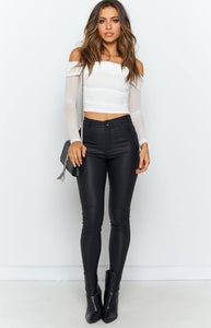 Off-the-shoulder Long Sleeve Crop Top - Arona XO