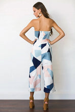Load image into Gallery viewer, Strapless Geometric Print Jumpsuit - Arona XO