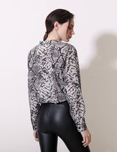 Load image into Gallery viewer, Long Sleeve Animal Print Blouse - Arona XO