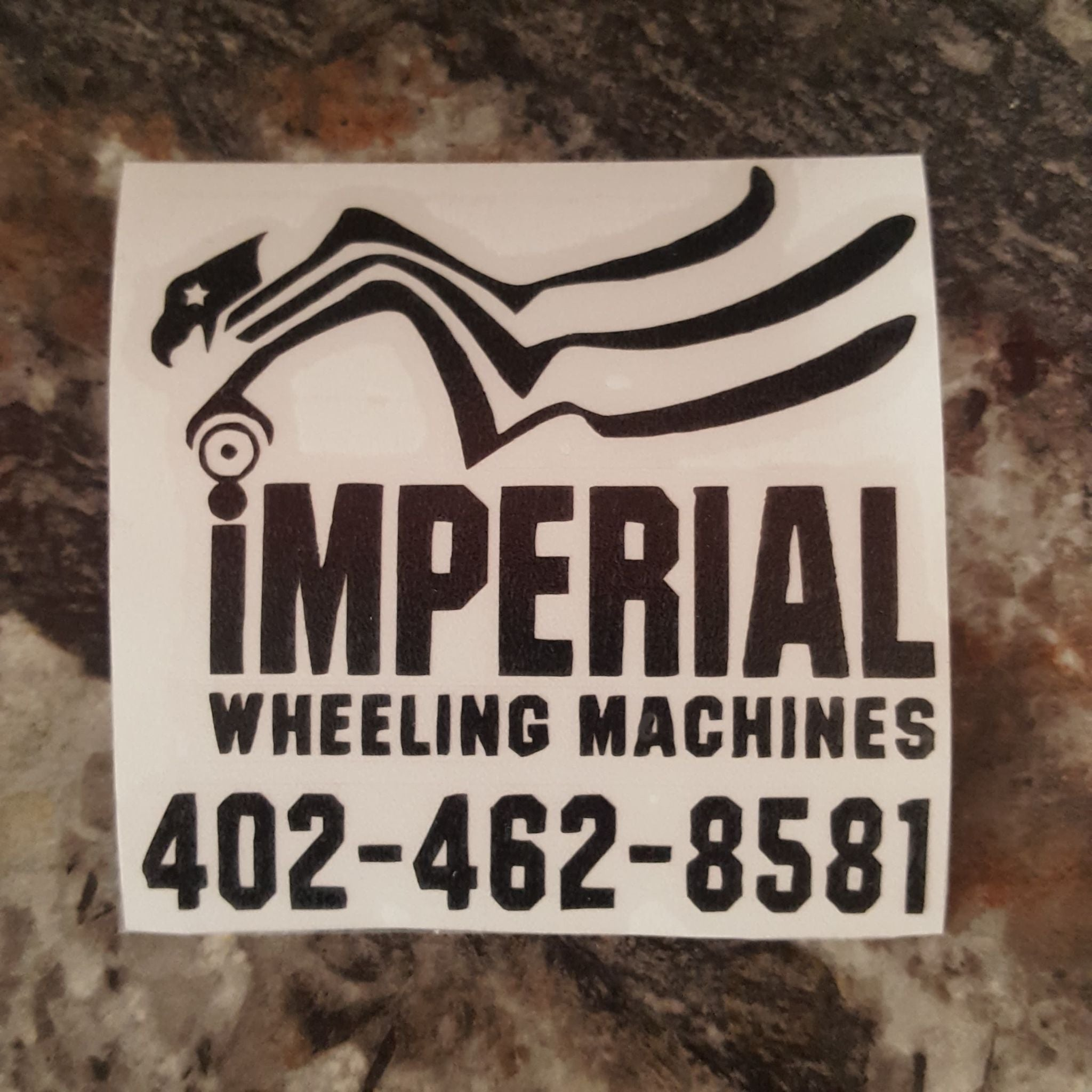 3 Inch Black Imperial Logo Sticker