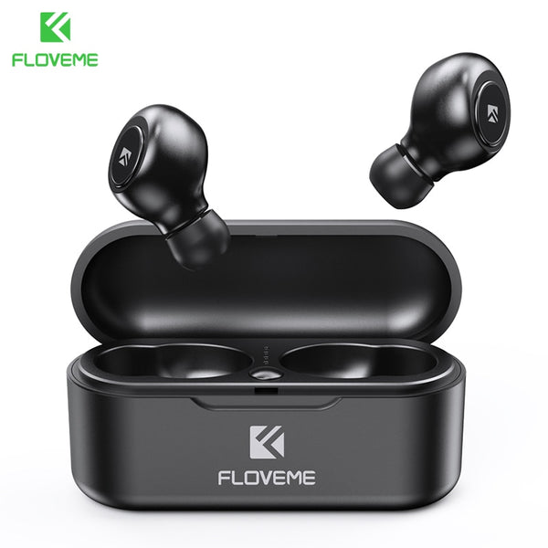 FLOVEME TWS 5.0 Wireless Headset Bluetooth Earphone  For Smart Phone Earphones Stereo Sound Earbuds Dual Microphone