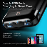 Floveme Mini Power Bank 10000mAh   Dual Usb Ports External Battery