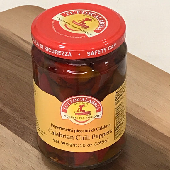 Tutto Calabria Whole Hot Calabrian Chili Peppers (10.2 oz)