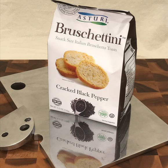 Asturi Bruschettini, Cracked Black Pepper (4.2 oz)