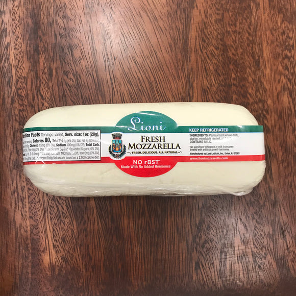 Lioni Hand Wrapped Fresh Mozzarella Log (1 lb)