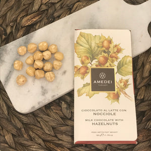 Amedei Nocciole, Milk Chocolate Bar with Hazelnuts (1.76 oz)