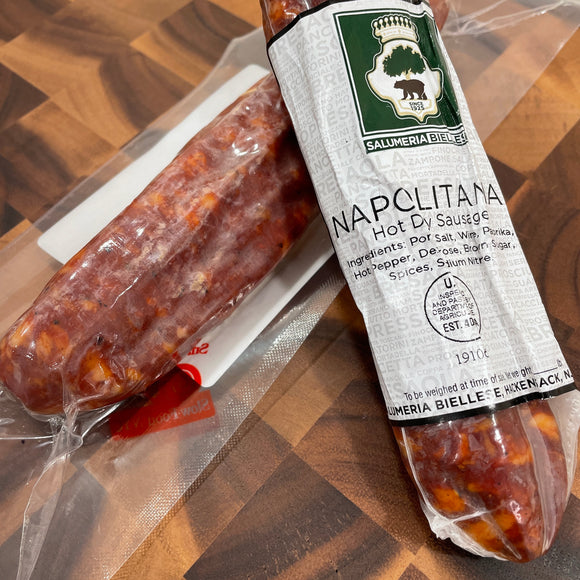 Salumeria Biellese Napolitana Salame, Hot (Whole 14 oz)
