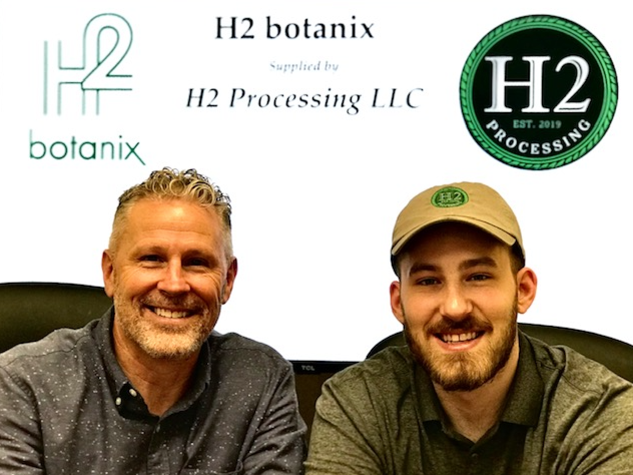 Dennis and Hunter Heide. Founders of H2 Botanix and H2 Processing