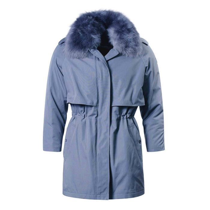 Ladies Fur Collar Parka Grey