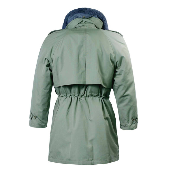 Ladies Fur Collar Parka Olive