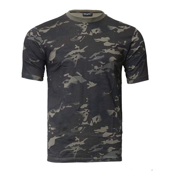 black Multicam short sleeve t shirt
