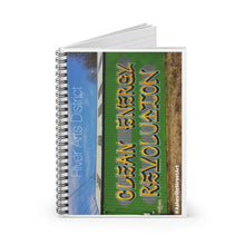 "Load image into Gallery viewer, ""CLEAN ENERGY"" Spiral Notebook"