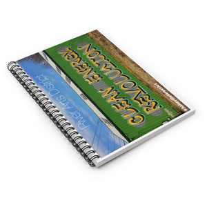 """CLEAN ENERGY"" Spiral Notebook"