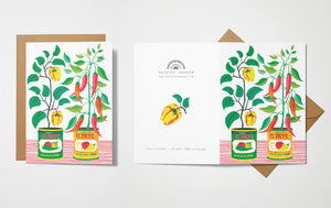Printer Johnson Chilli Peppers Card