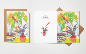 Printer Johnson Bromeliad Card