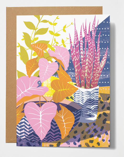 Printer Johnson Houseplants Card