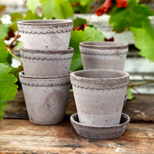 Load image into Gallery viewer, Helena Grey Plant Pots - LOCAL PICK UP ONLY