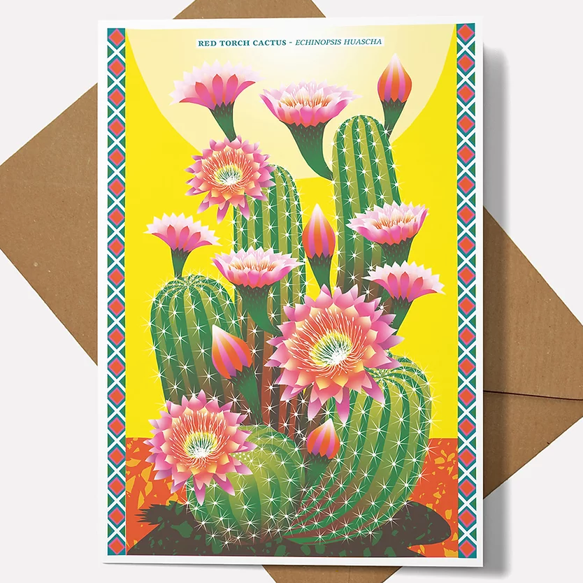 Printer Johnson Cactus Card