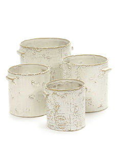 White Cylinder Pots - *Local Delivery or Local Pick Up Only*