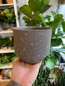 Speckled Plant Pots in Dark Grey - *Local Delivery or Local Pick Up Only*