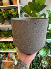 Load image into Gallery viewer, Speckled Plant Pots in Dark Grey - *Local Delivery or Local Pick Up Only*