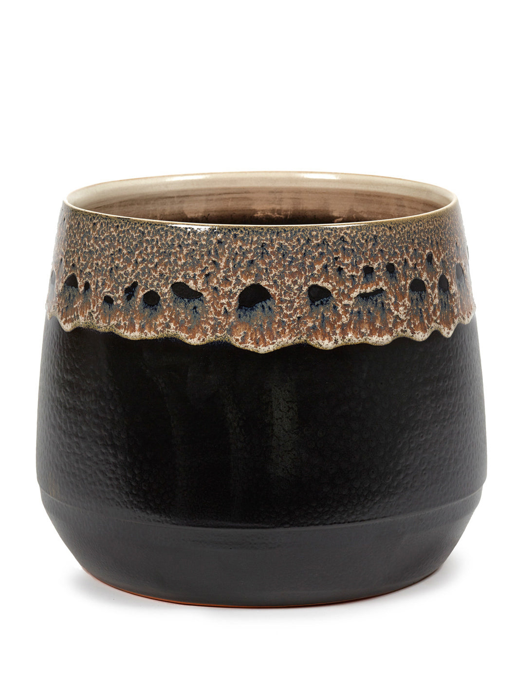 Black Glazed Plant Pot - *Local Pick Up Only*
