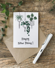 Load image into Gallery viewer, Katrina Sophia Hanging Plants Happy New Home Card
