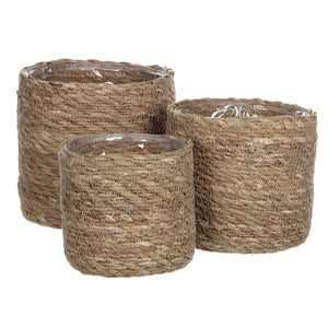 Light Brown Basket Plant Pots