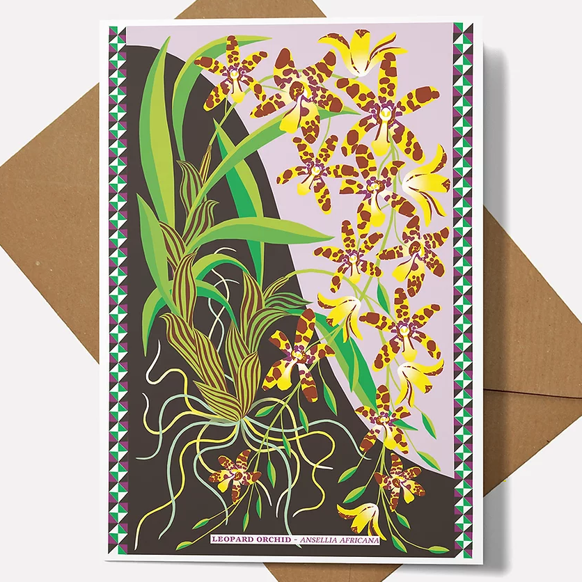 Printer Johnson Leopard Orchid Card