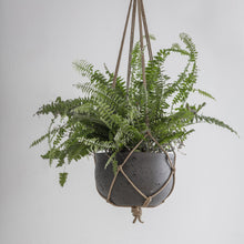 Load image into Gallery viewer, Dark Grey Cement Hanging Pot