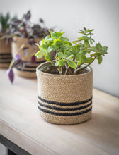 Load image into Gallery viewer, Striped Basket Plant Pot