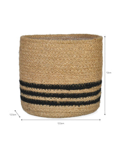 Striped Basket Plant Pot