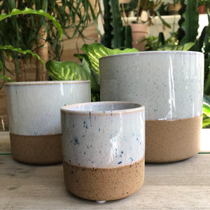 Two Tone Plant Pot - White XS
