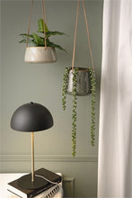 Load image into Gallery viewer, Green Glazed Hanging Plant Pot - *Local Delivery or Local Pick Up Only*