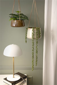 Grey Glazed Hanging Plant Pot - *Local Delivery or Local Pick Up Only*