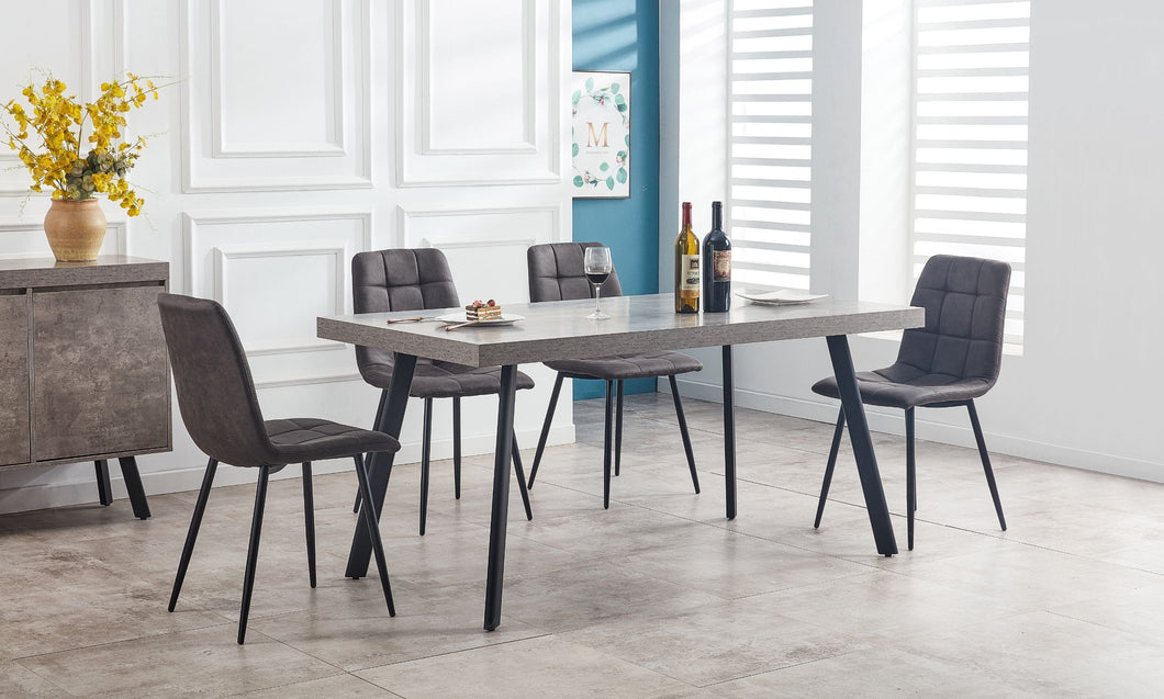 FRED 1.6M DINING TABLE & CHAIRS