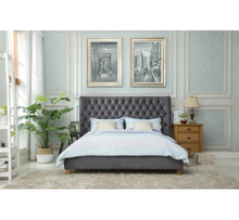 Load image into Gallery viewer, KENSINGTON 5FT KING FABRIC BED FRAME