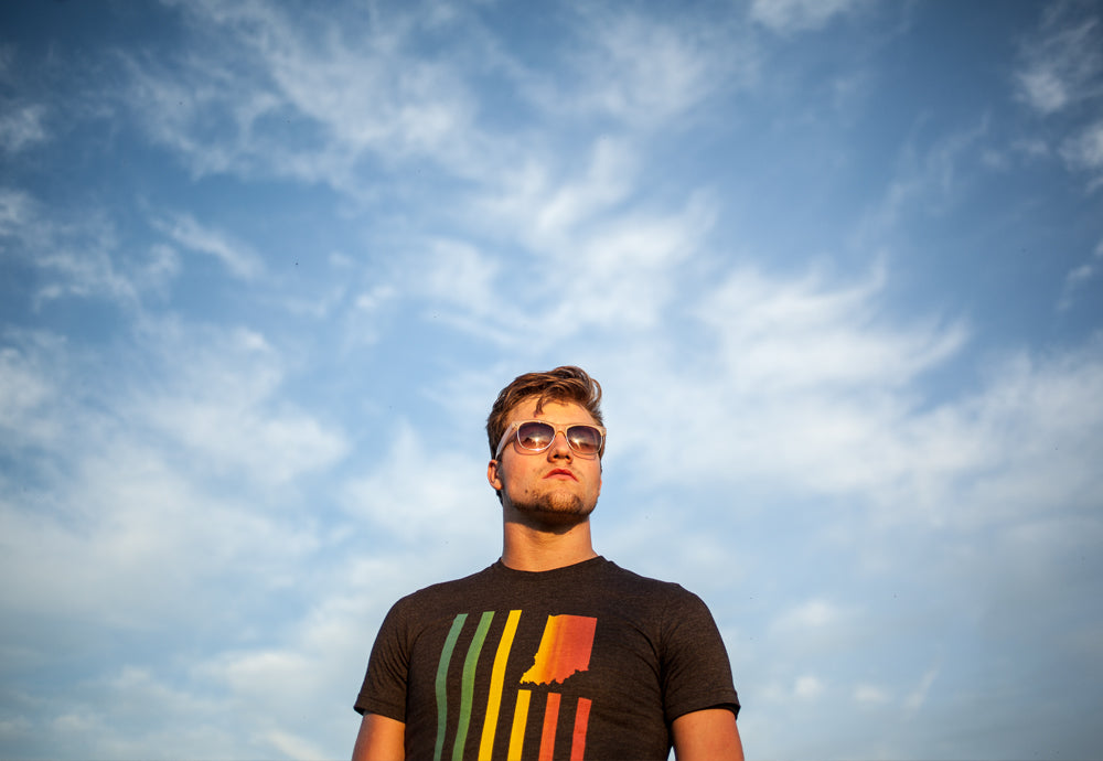 Jacob Barnes United State of Indiana Indy Pride 2014 Indianapolis Tee Shirt