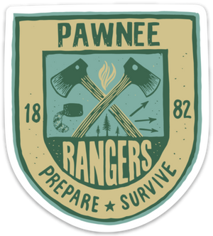 Pawnee Rangers Sticker - United State of Indiana: Indiana-Made T-Shirts and Gifts