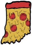 Home Slice Sticker - United State of Indiana: Indiana-Made T-Shirts and Gifts