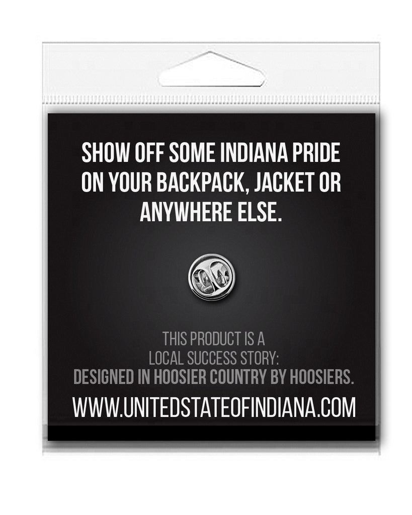 Burger Enamel Pin - United State of Indiana: Indiana-Made T-Shirts and Gifts