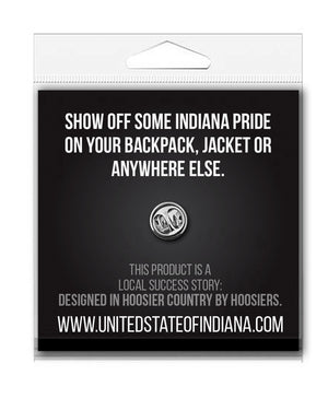 Rainbow Peace Enamel Pin - United State of Indiana: Indiana-Made T-Shirts and Gifts