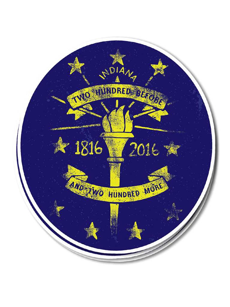200 More Sticker - United State of Indiana: Indiana-Made T-Shirts and Gifts