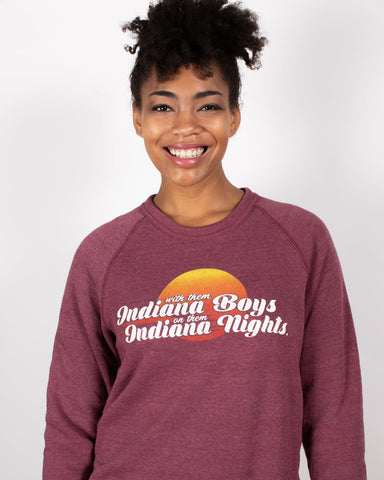 Indiana Boys, Indiana Nights Crewneck Sweatshirt ***CLEARANCE*** - United State of Indiana: Indiana-Made T-Shirts and Gifts