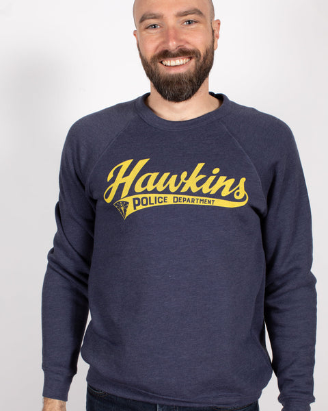 Hawkins Police Department Crewneck Sweatshirt - United State of Indiana: Indiana-Made T-Shirts and Gifts