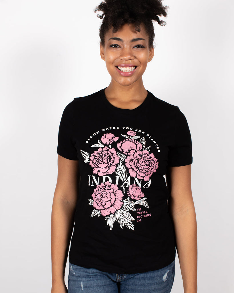 IN Bloom Women's Tee - United State of Indiana: Indiana-Made T-Shirts and Gifts
